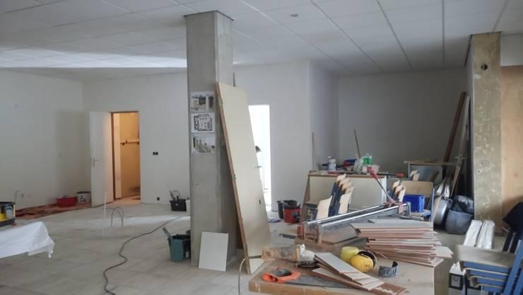 Verbouwing Lunet werkcafé:   door Sterre Troostheide