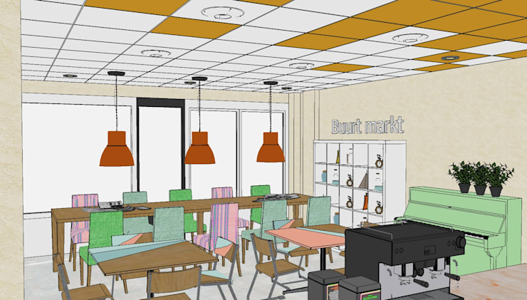 3D model Lunet werkcafé:  Kantoor- & winkelruimten door Sterre Troostheide