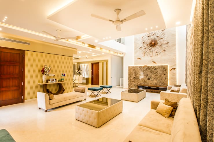 Luxury living area: modern Living room by NVT Quality Build solution