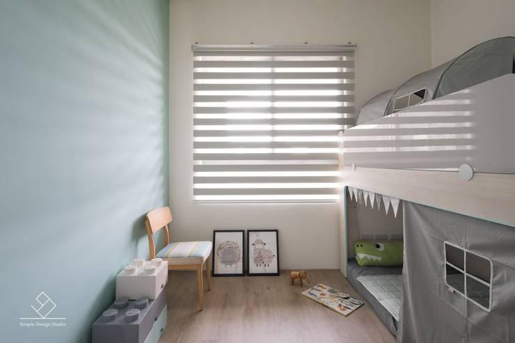 小孩房設計:  嬰兒/兒童房 by 極簡室內設計 Simple Design Studio