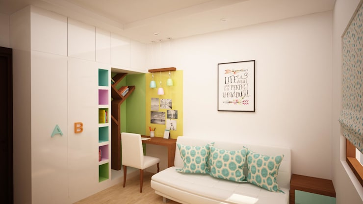 Kids study area:  Study/office by NVT Quality Build solution