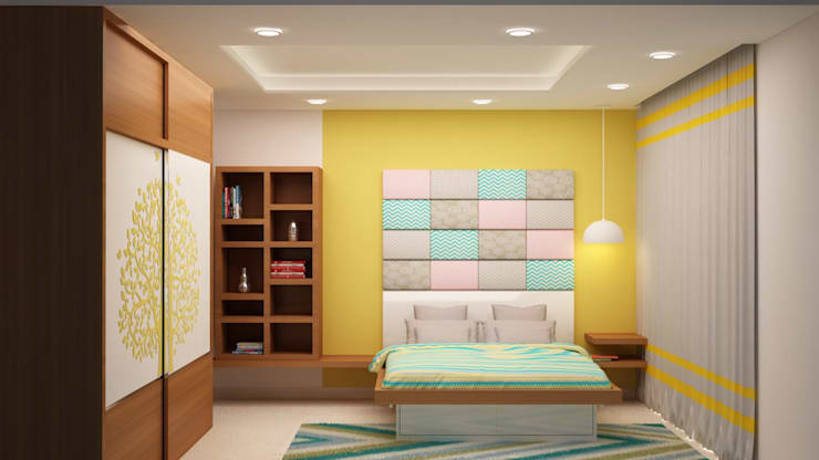 Kids room head side wall:  Nursery/kid's room by NVT Quality Build solution