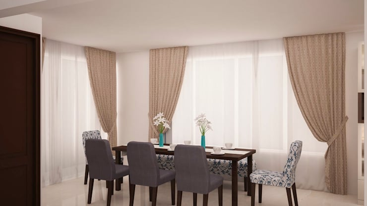 Dining area:  Dining room by NVT Quality Build solution