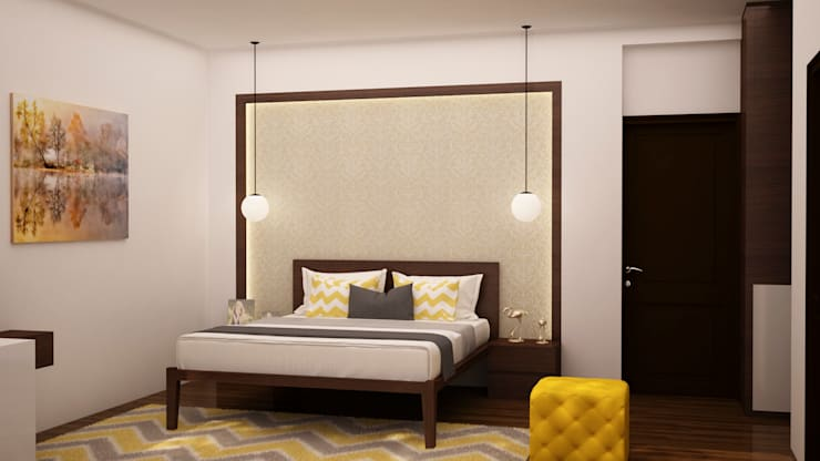 Headboard design : modern Bedroom by NVT Quality Build solution