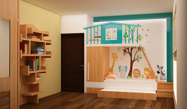 Bunk bed at kids room : modern Nursery/kid's room by NVT Quality Build solution