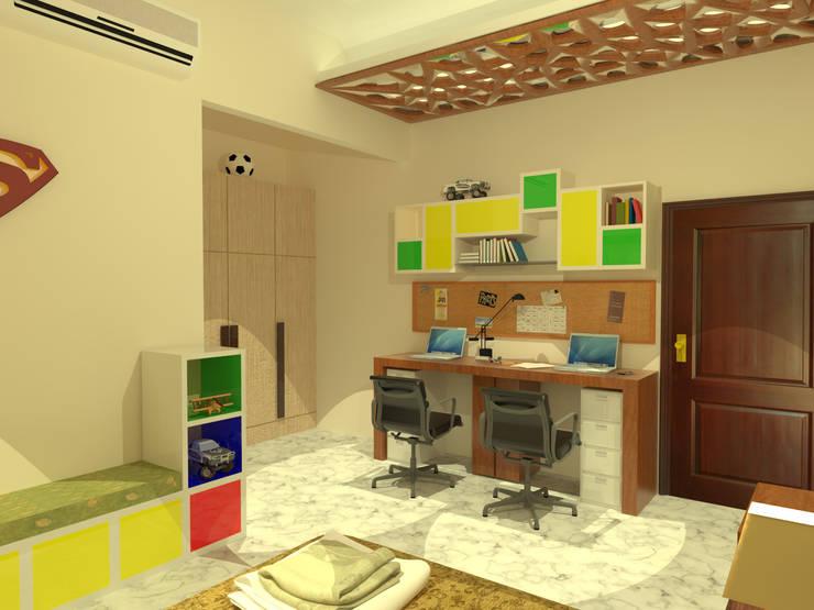 Rahul Chaudhary Residence, Interiors by Samadhan Architects: modern Bedroom by Samadhan Architects