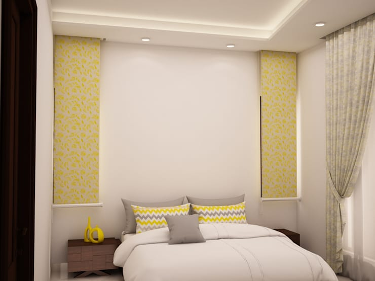 Head side design : rustic Bedroom by NVT Quality Build solution