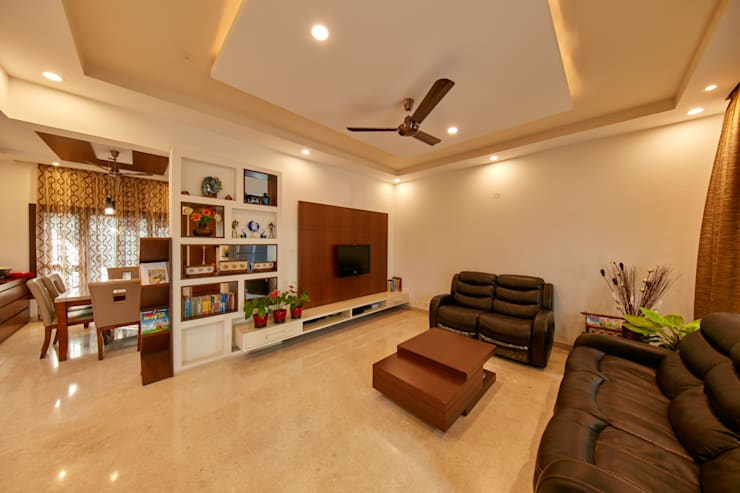 Display unit with TV unit:  Living room by NVT Quality Build solution