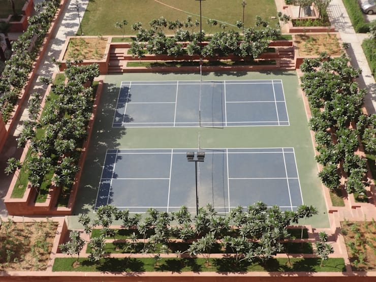 Tennis courts: modern Garden by NMP Design