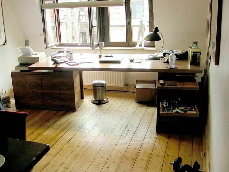 Autorenbüro, Köln: klassische Arbeitszimmer von schüller.innenarchitektur
