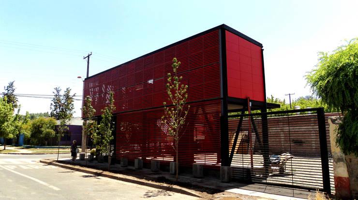 Oficinas Inmobiliaria EMG: Casas de estilo  por Tetralux Arquitectos