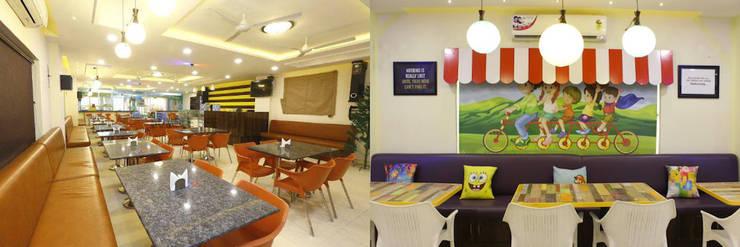 Bumblebee Cafe:   by Saloni Narayankar Interiors