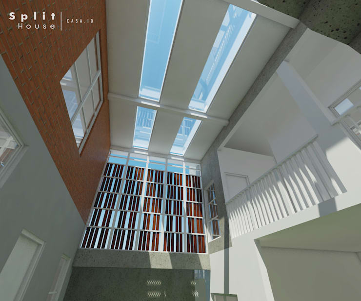Sudut Bawah:  Koridor dan lorong by CASA.ID ARCHITECTS