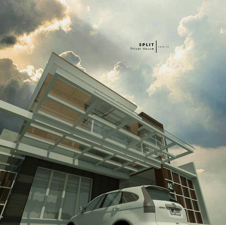 Projekty,  Dom jednorodzinny zaprojektowane przez CASA.ID ARCHITECTS