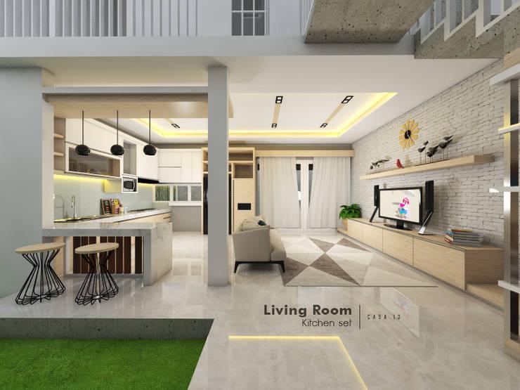 Ruang Keluarga:  Ruang Keluarga by CASA.ID ARCHITECTS