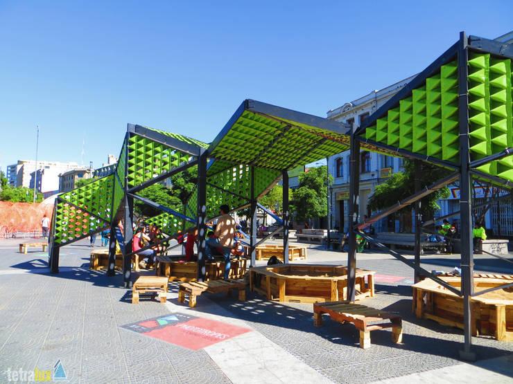 Reptilia Festival de las Artes 2014: Oficinas y tiendas de estilo  por Tetralux Arquitectos