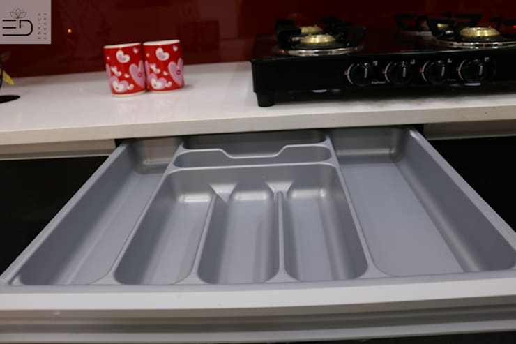 3BHK Aparna Sarovar Grande C Block 2050 sqft Turn Key project: modern Kitchen by Enrich Interiors & Decors