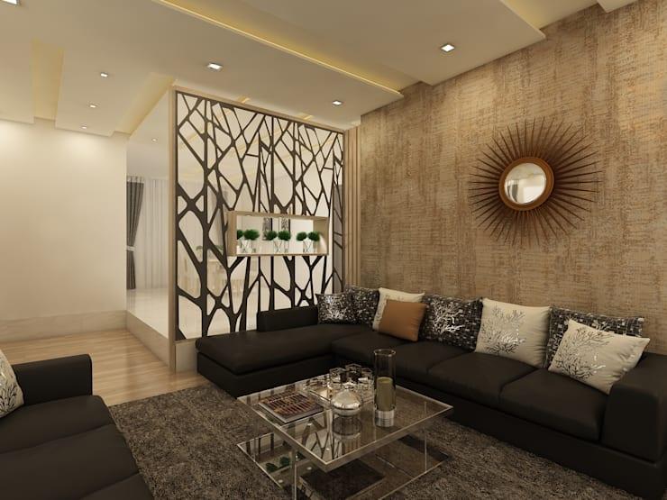 Drawing :  Living room by Regalias India Interiors & Infrastructure
