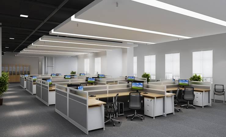 office: modern Study/office by Antarangni Interior p ltd