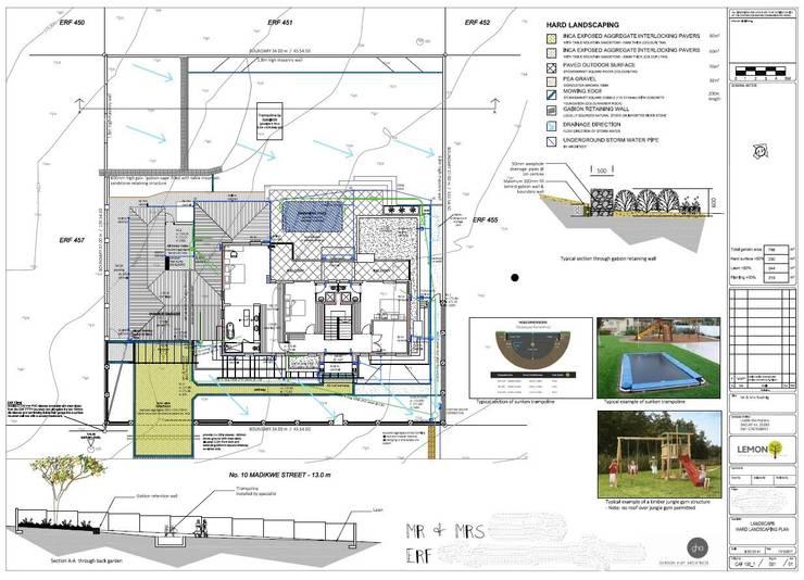 Hard landscaping plan for estate development:   by Lemontree Landscape architecture and Design