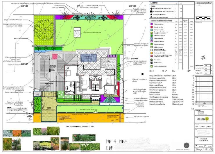 Soft landscaping plan for estate development:   by Lemontree Landscape architecture and Design