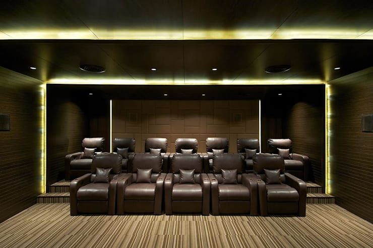 Lodha Bellissimo Clubhouse: modern Media room by Racheta Interiors Pvt Limited