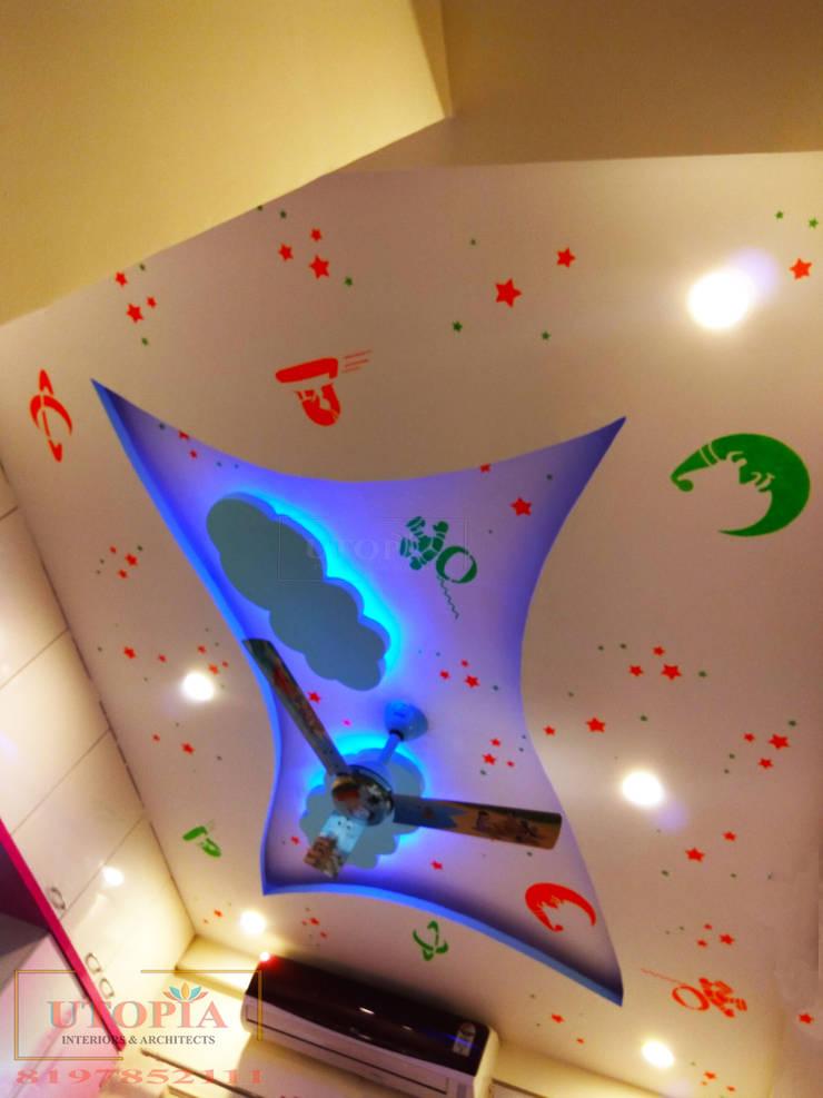 Kid's room false ceiling:  Nursery/kid's room by Utopia Interiors & Architect,Modern