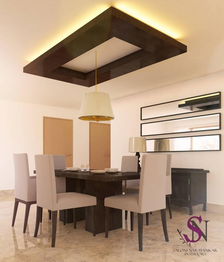 Apartment, Jubilee Hills:  Dining room by Saloni Narayankar Interiors,Modern