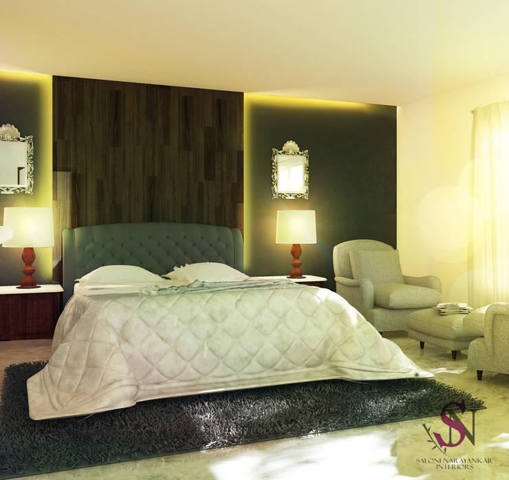 Apartment, Jubilee Hills:  Bedroom by Saloni Narayankar Interiors,Modern