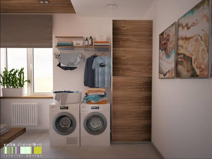 浴室 by Мастерская интерьера Юлии Шевелевой