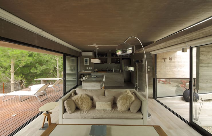 Casa S & S: Livings de estilo  por Besonías Almeida arquitectos