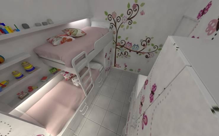 Habitación de Niñas : Habitaciones para niñas de estilo  por Aida Tropeano & Asoc.,Moderno Derivados de madera Transparente