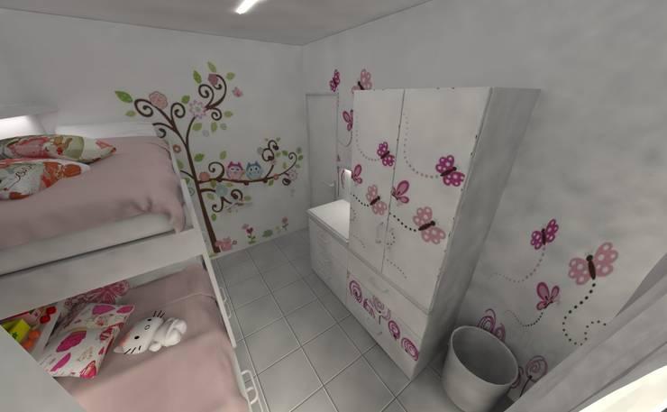 Habitación de Niñas: Habitaciones para niñas de estilo  por Aida Tropeano & Asoc.,Moderno Derivados de madera Transparente