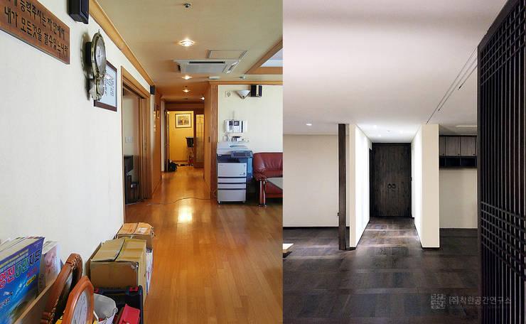 잠실 현대레이크빌 : 주식회사 착한공간연구소의  복도 & 현관