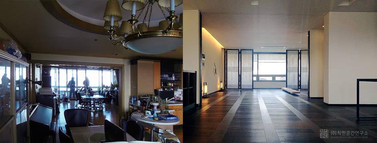 잠실 현대레이크빌 : 주식회사 착한공간연구소의  거실