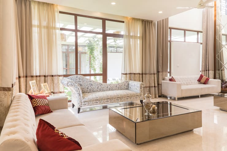 Luxury living room :  Living room by NVT Quality Build solution