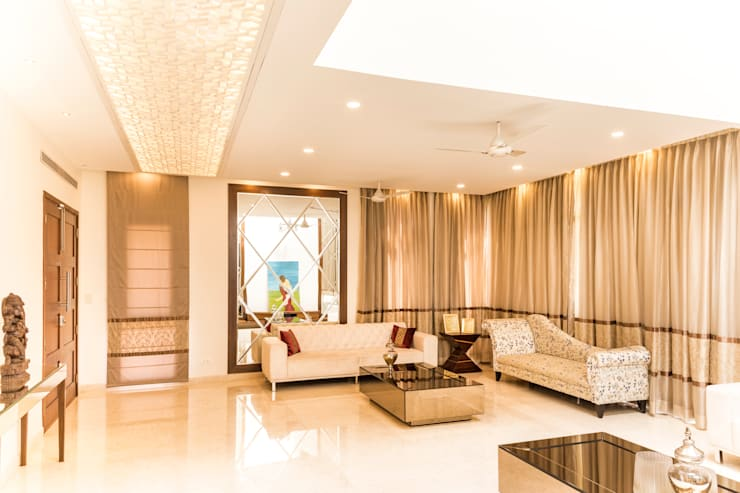 Living room : modern Living room by NVT Quality Build solution