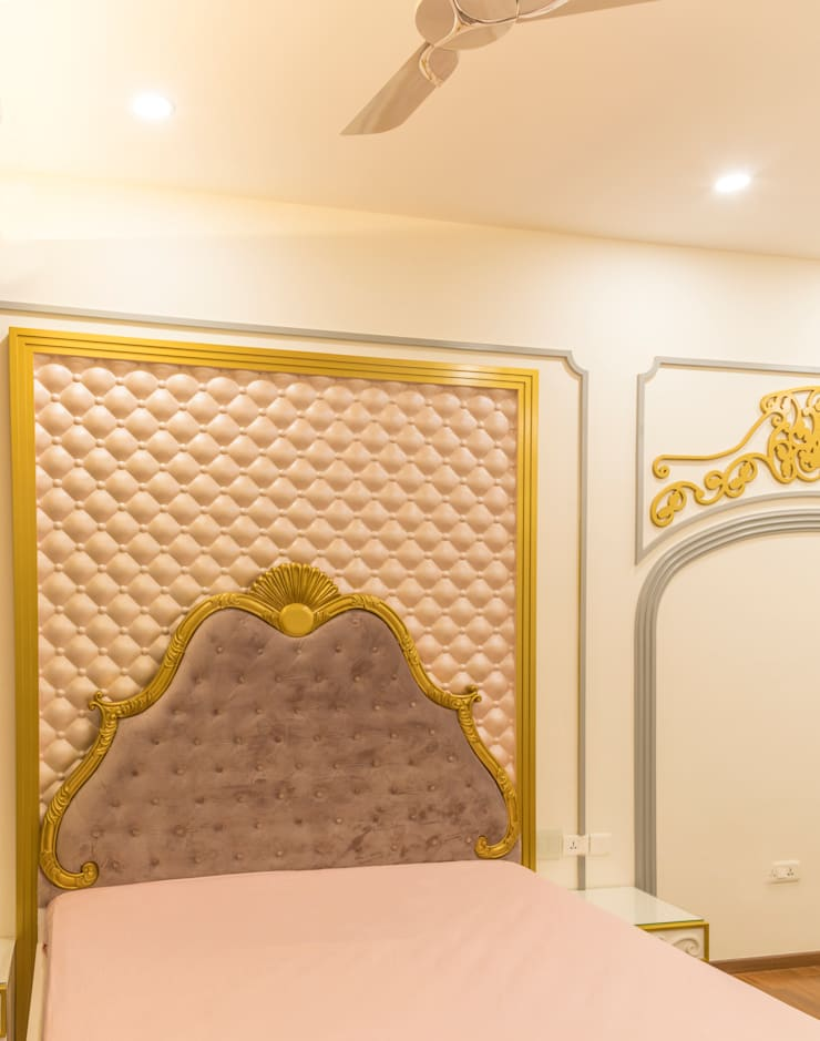 Head board royal style : modern Bedroom by NVT Quality Build solution