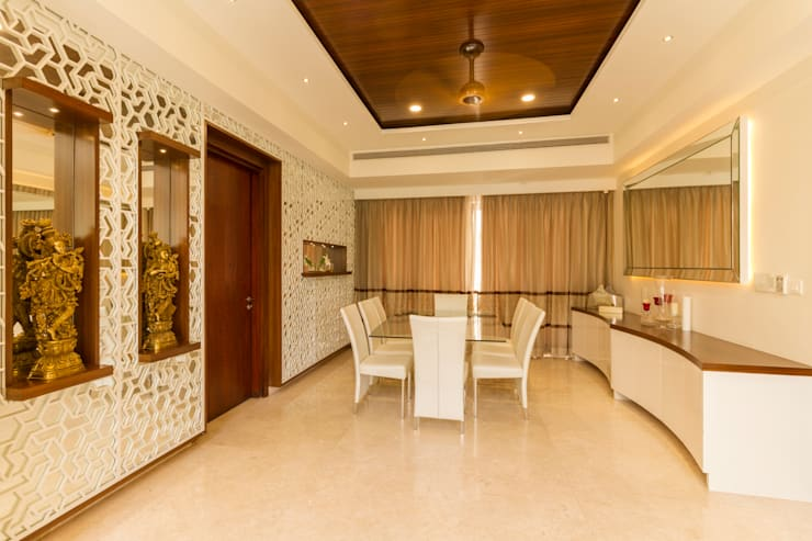 Wooden ceiling :  Dining room by NVT Quality Build solution