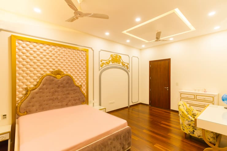 Luxury Bedroom wall : modern Bedroom by NVT Quality Build solution