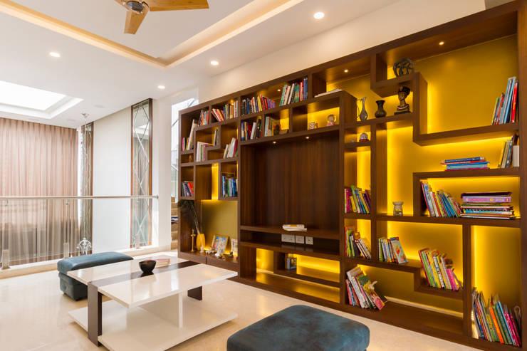 Geometric design :  Media room by NVT Quality Build solution