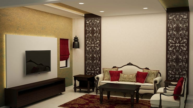 Living area:  Living room by NVT Quality Build solution