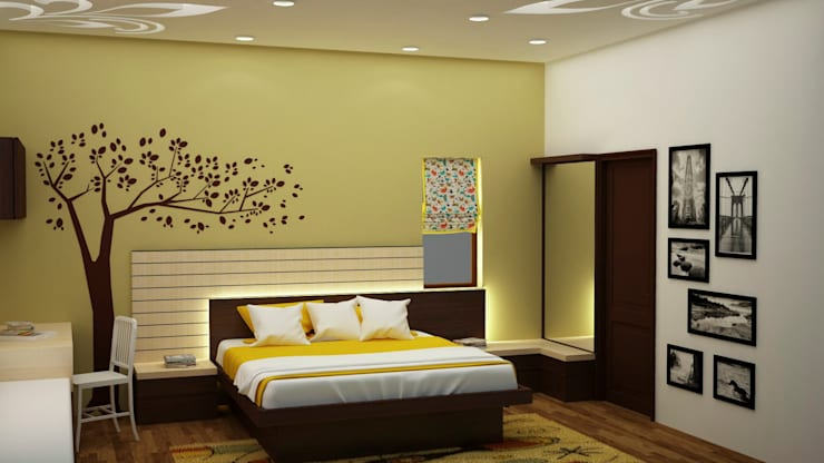 Backlit headboard :  Bedroom by NVT Quality Build solution
