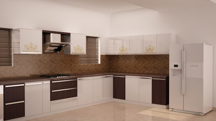 Simple kitchen design:  Kitchen by NVT Quality Build solution