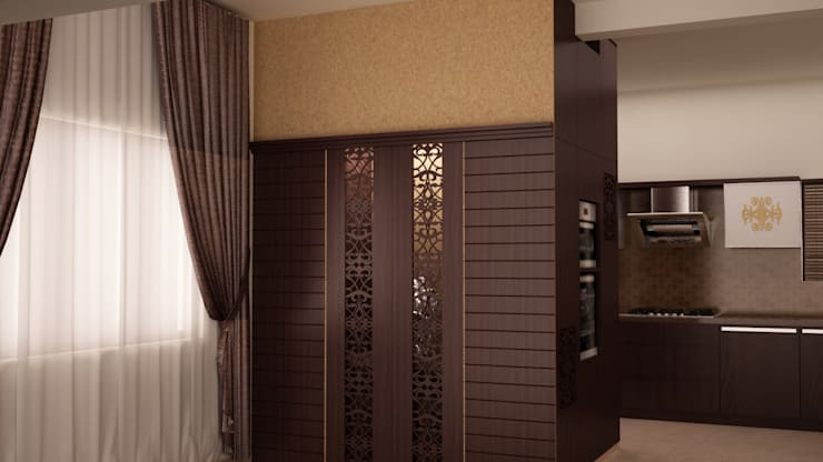 Puja unit and tall unit: asian Dining room by NVT Quality Build solution