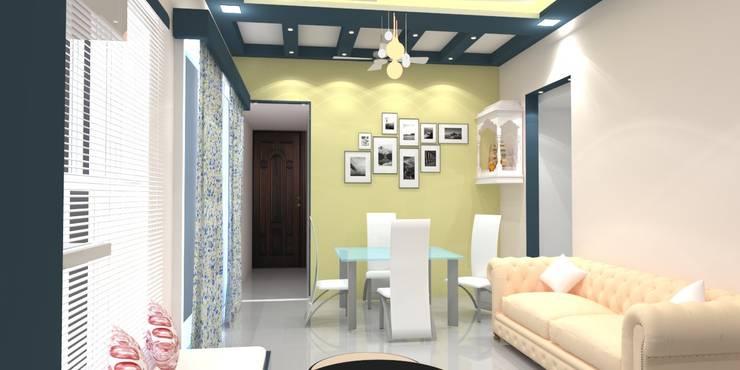 Shriyans Apartment Pune - Mr Ashish:  Dining room by DECOR DREAMS