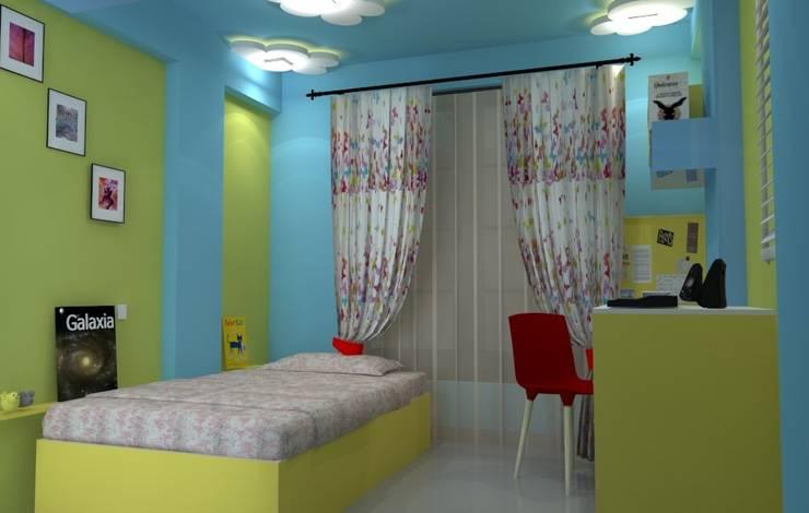 Shriyans Apartment Pune - Mr Ashish:  Nursery/kid's room by DECOR DREAMS