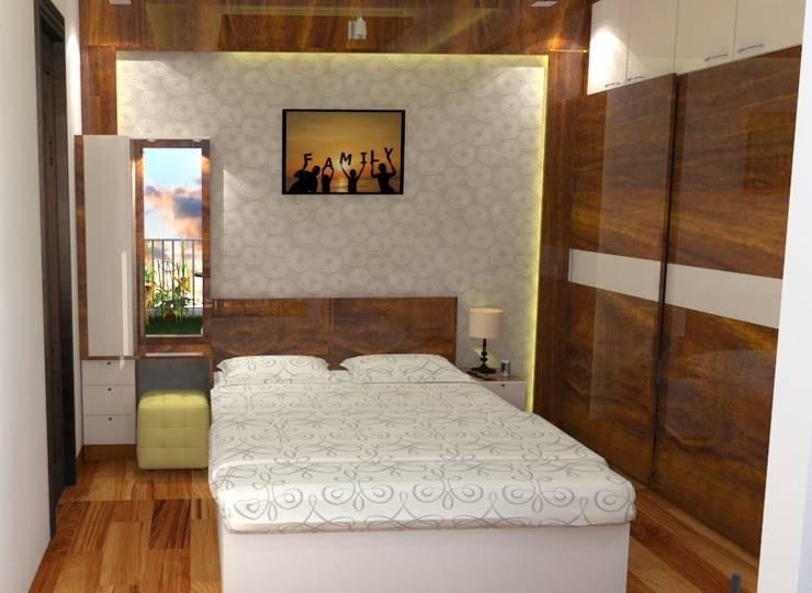 Shriyans Apartment Pune - Mr Ashish: modern Bedroom by DECOR DREAMS