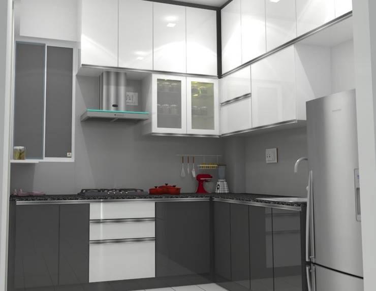 Shriyans Apartment Pune - Mr Ashish:  Kitchen by DECOR DREAMS