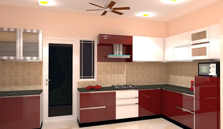 Amanora Park Pune - Pent House: modern Kitchen by DECOR DREAMS